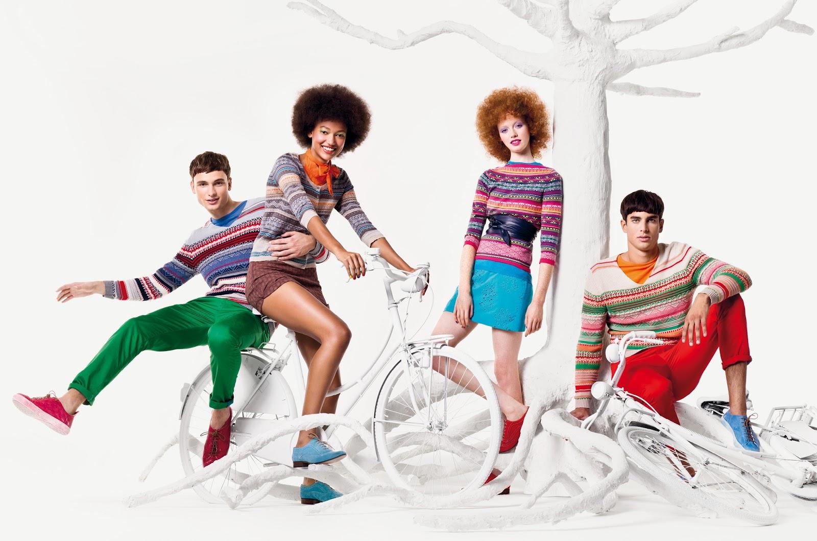 Anuncios de moda con bicicletas
