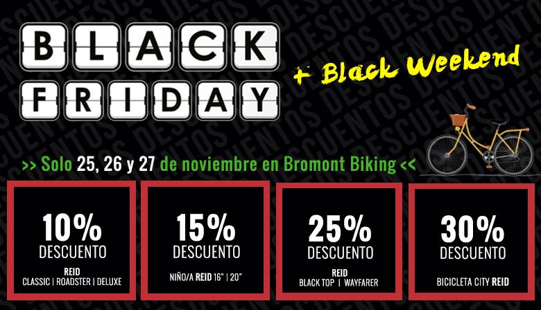 Descuentos y ofertas en bicicletas de la marca REID durante el Black Friday