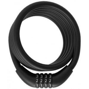 Candado Bicicleta Espiral Negro Combinación