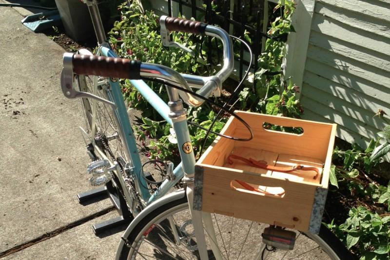Cesta y caja para bicicleta