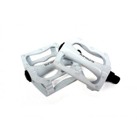 Pedales metálico blanco