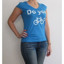 Camiseta chica Do you bike