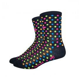 Calcetines Defeet Aireator 4″ Spotty Black Multi color
