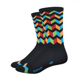 Calcetines Defeet Aireator – JitterBug (Black/Blue/Orange)