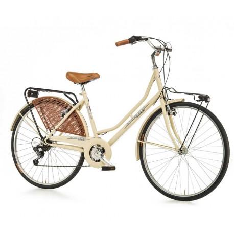 "Bici paseo OLANDA 26"" 6V café"