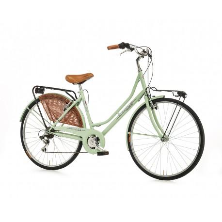 """Bici paseo OLANDA 26"""" 6V Verde"""