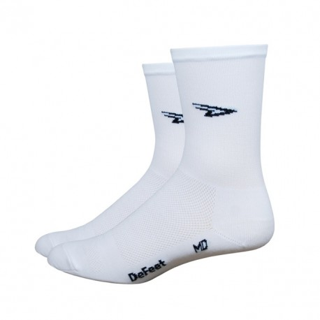 """Calcetines Defeet Aireator 5"""" D-Logo White"""