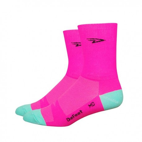 "Calcetines Defeet Aireator 5"" D-Logo Pink"