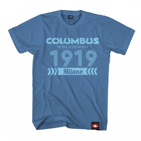 COLUMBUS 1919 T-SHIRT STELL BLUE