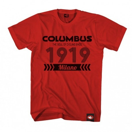 COLUMBUS 1919 T-SHIRT RED