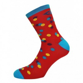 Calcetinces Caleido Dots Rojo