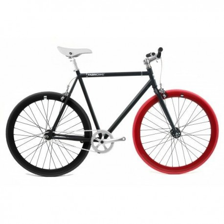 Fabric Bike MATTE BLACK & RED