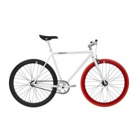 Fabric Bike White & Black & Red